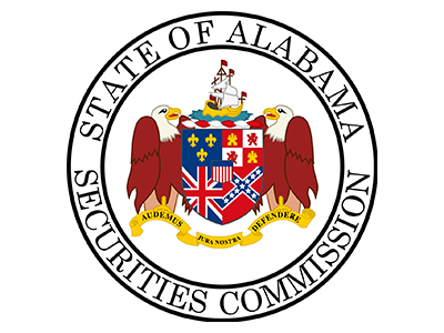 Logo for Alabama Securities Commission, a sponsor