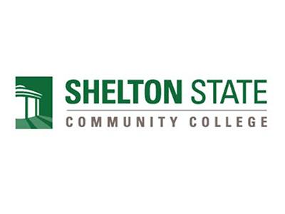 Logo for Shelton State, a sponsor