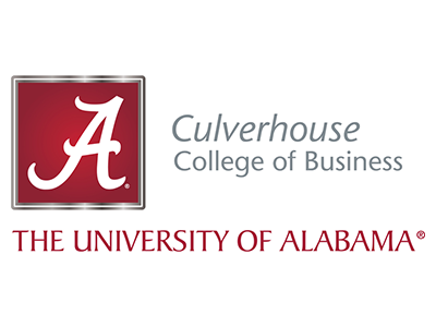 Logo for The University of Alabama Culverhouse College of Business, a sponsor