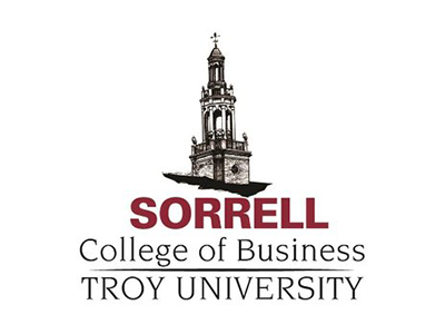 Logo for Troy University Sorrell College of Business, a sponsor