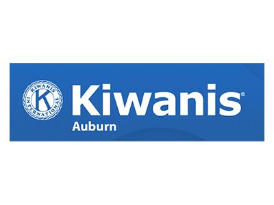 Logo for Kiwanis Auburn, a sponsor