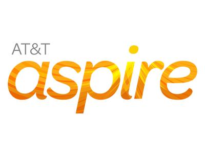 Logo for ATT Aspire, a sponsor